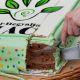 Tokaj Hegyalja piac market - photo of cutting birthday cake