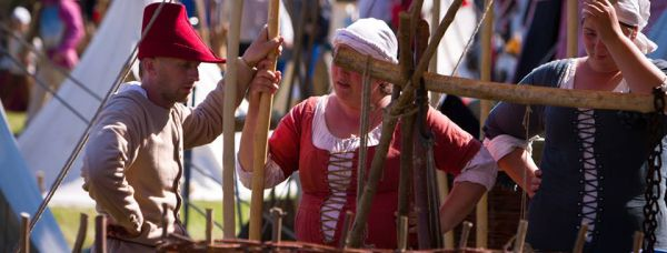 Photo of medieval reenactment sárospatak