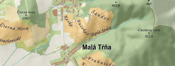 Map of Tokaj, Slovakia by Igor Vizner