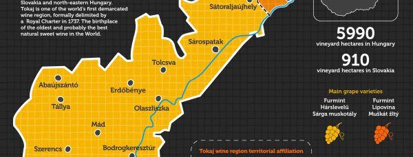 Map-infographic of Tokaj wine region by www.winesofa.eu