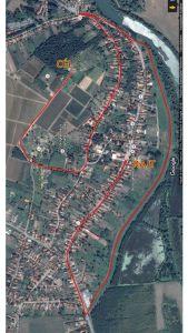 Bodrogkeresztúr winter run - route map