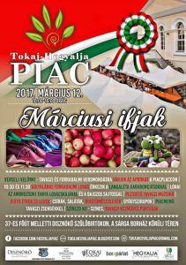 flyer for tokaj hegyalja piac market