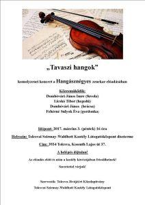 programme for Tolcsva Waldbott concert